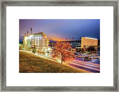 Donald W. Reynolds Stadium - Home Of The Arkansas Razorbacks College Football Team Framed Print by Gregory Ballos