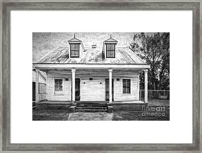 Donaldsonville Historic House- Bw Art Framed Print