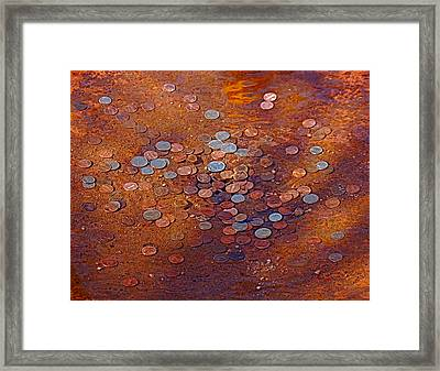 Donation Fountain Framed Print by Susan Heller