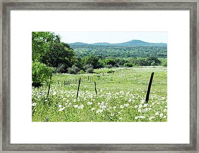 Framed Print featuring the photograph Done In White by Joe Jake Pratt