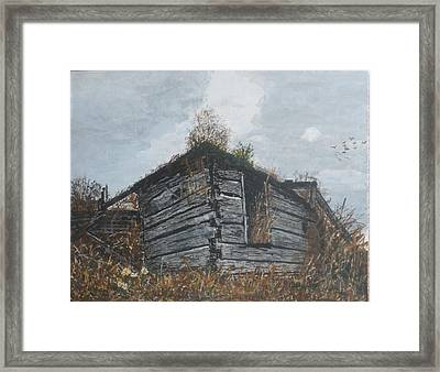 Framed Print featuring the painting Done Its Time... by Betty-Anne McDonald