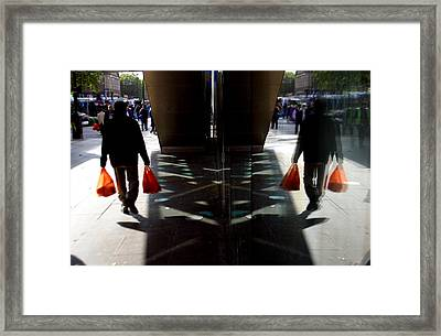 Done The Shopping Framed Print by Jez C Self