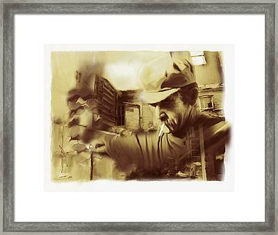 Done Working Framed Print by Bob Salo