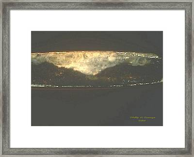 Donee New River Thundercloud Framed Print by Phillip H George