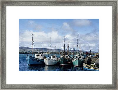 Donegal Fishing Port Framed Print