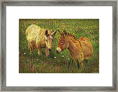 Donkey Confidential Framed Print