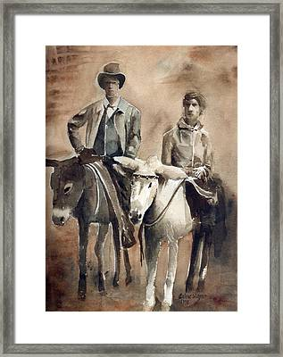 Donkey Ride Framed Print by Arline Wagner