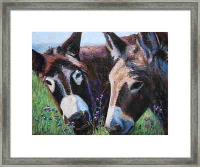 Donkey Tonk Framed Print by Billie Colson