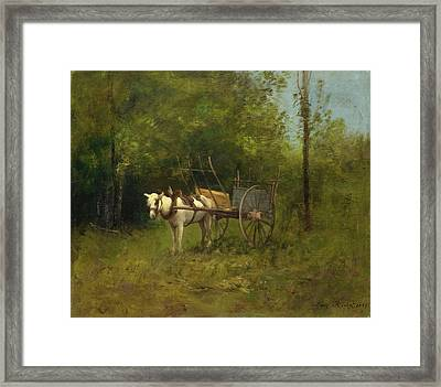 Donkey With Cart Framed Print