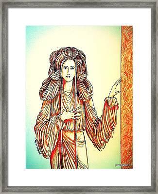 Donna Angelicata Framed Print by Paulo Zerbato