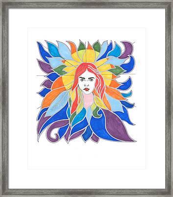 Donna Soul Portrait Framed Print