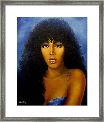 Framed Print featuring the painting Donna Summers by Loxi Sibley