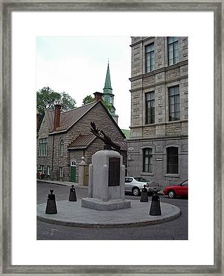 Framed Print featuring the photograph Donnacona And Du Parloir by John Schneider