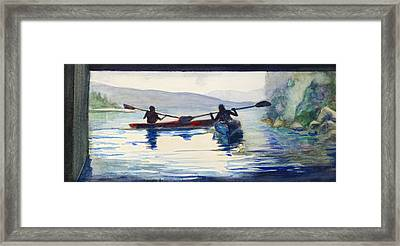 Donner Lake Kayaks Framed Print