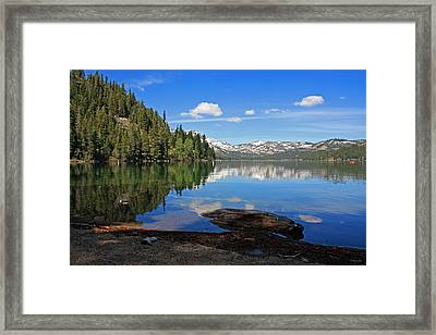 Donner Lake Reflections Framed Print by Kathy Yates