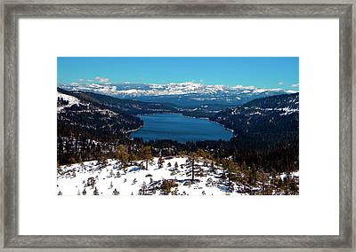 Donner Lake Sierra Nevadas Framed Print