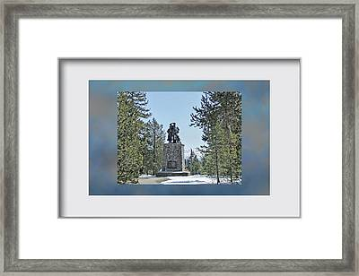 Donner Monument Framed Print by Donna Kennedy