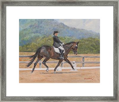 Framed Print featuring the painting Donnerlittchen by Quwatha Valentine