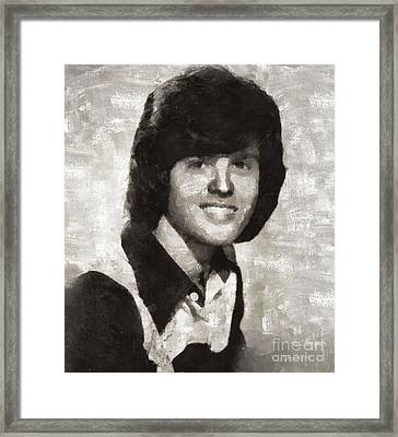 Donny Osmond, Singer Framed Print