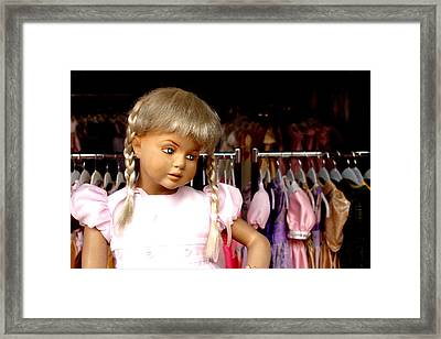 Dont Be Fooled By My Sad Looks Framed Print by Jez C Self