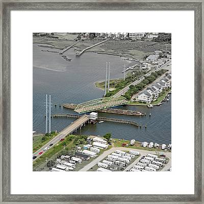 Don't Be Square Topsail Island Framed Print by Betsy Knapp