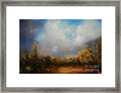 Dont Break Me Down Oil Painting Framed Print
