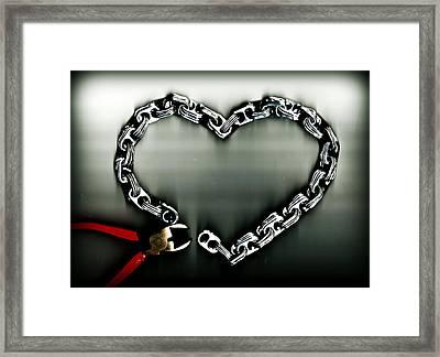 Don't Chain My Heart Framed Print