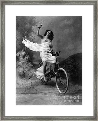 Dont Drink And Drive Nude Model 1897 Framed Print