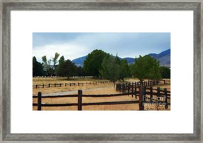 Dont Fence Me In Painting Framed Print by Bobbee Rickard