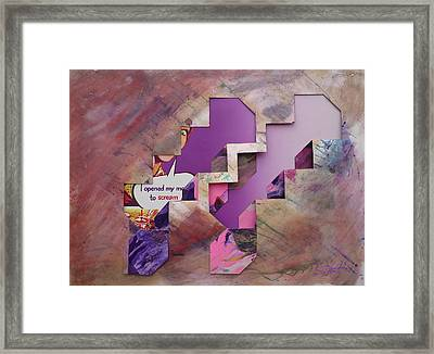 Don't Go Up The Stairs Framed Print by Charles Stuart