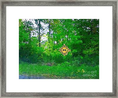 Don't Know Which Way To Turn Framed Print by Deborah Selib-Haig DMacq