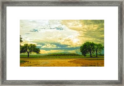 Don't Know Why There's No Sun Up In The Sky Framed Print