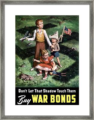 Don't Let That Shadow Touch Them Framed Print by War Is Hell Store