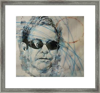 Framed Print featuring the painting Don't Let The Sun Go Down On Me  by Paul Lovering