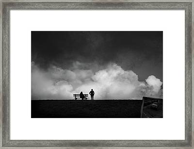 Don't Look Behind Framed Print by Christiane Michaud