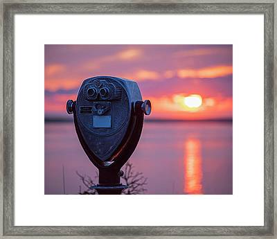 Don't Look Directly Into The Sun Chatham Ma Cape Cod Framed Print