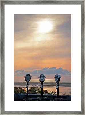 Don't Look Directly Into The Sun Chatham Ma Cape Cod Trio Framed Print