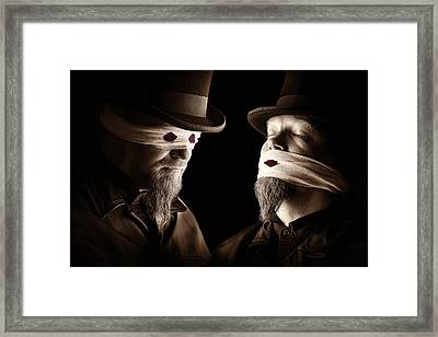 Don't Look, Don't Tell Framed Print by Petri Damsten