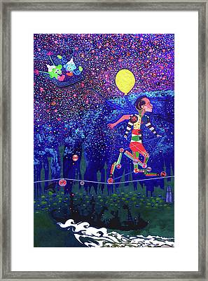 Don't Look Down Framed Print by Johny Deluna