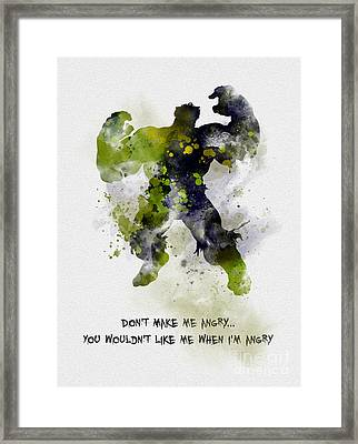 Don't Make Me Angry Framed Print by Rebecca Jenkins