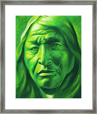 Dont Make Me Angry Framed Print by Robert Martinez