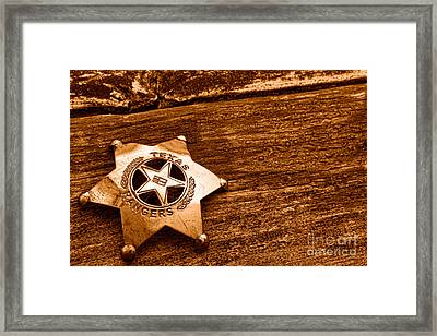 Don't Mess - Sepia Framed Print by Olivier Le Queinec
