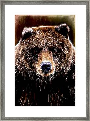 Framed Print featuring the digital art Don't Run by Aaron Berg