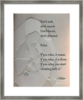 Don't Seek Framed Print