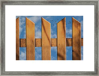 Don't Take A Fence Framed Print by Paul Wear