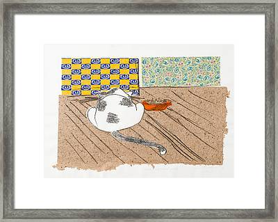 Don't Touch Me Or I Will Eat You Too Framed Print by Leela Payne