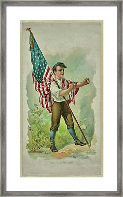 Don't Touch My Flag 1890 Framed Print
