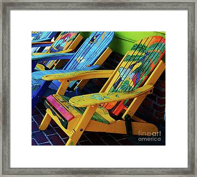 Dont Worry Be Happy Framed Print by Debbi Granruth