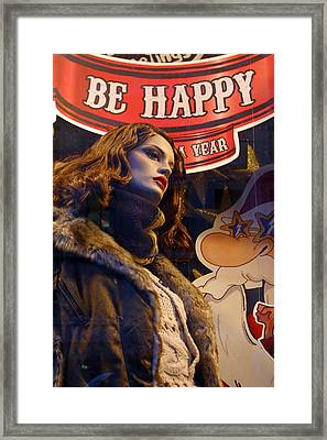 Dont Worry Be Happy Framed Print by Jez C Self