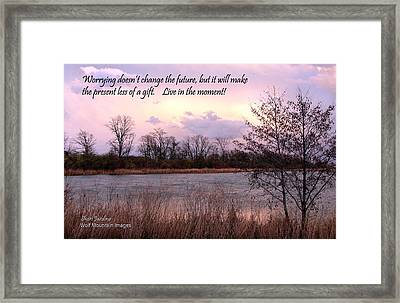 Don't Worry Framed Print by Shari Jardina